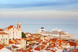 Cruise ship in Lisbon passenger port