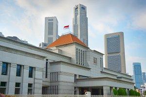 Parliament building in Singapore.