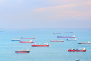 industrial cargo ships in Singapore