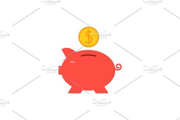 Piggy Bank Flat Icon