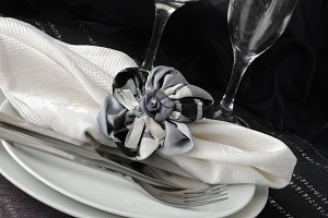 Decorative folded napkin