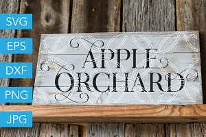 Apple Orchard SVG Cutting File