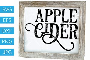 Apple Cider SVG Cutting File