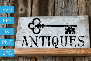 Antiques SVG Vintage Key SVG