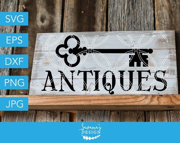 Antiques SVG Vintage Key SVG