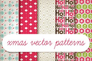 xmas vector patterns
