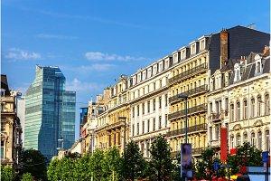 Buildings on Brouckere square in Brussels, Belgium