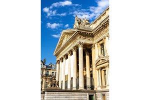 Facade of Brussels Stock Exchange - Belgium