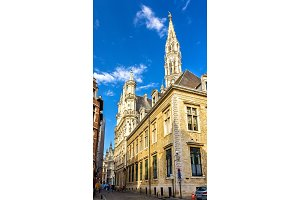 View of the Town Hall of Brussels - Belgium