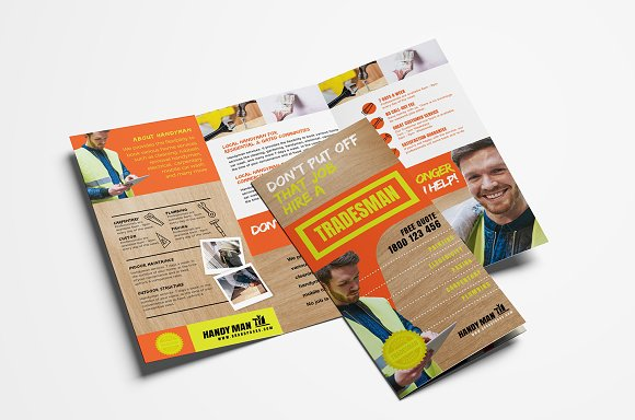 handyman brochure template brochure templates creative market