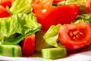 Vegetable mix of fresh tomatoes