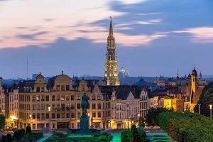 View of Brussels city center - Belgium
