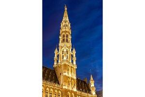 Spire of Brussels City Hall - Belgium