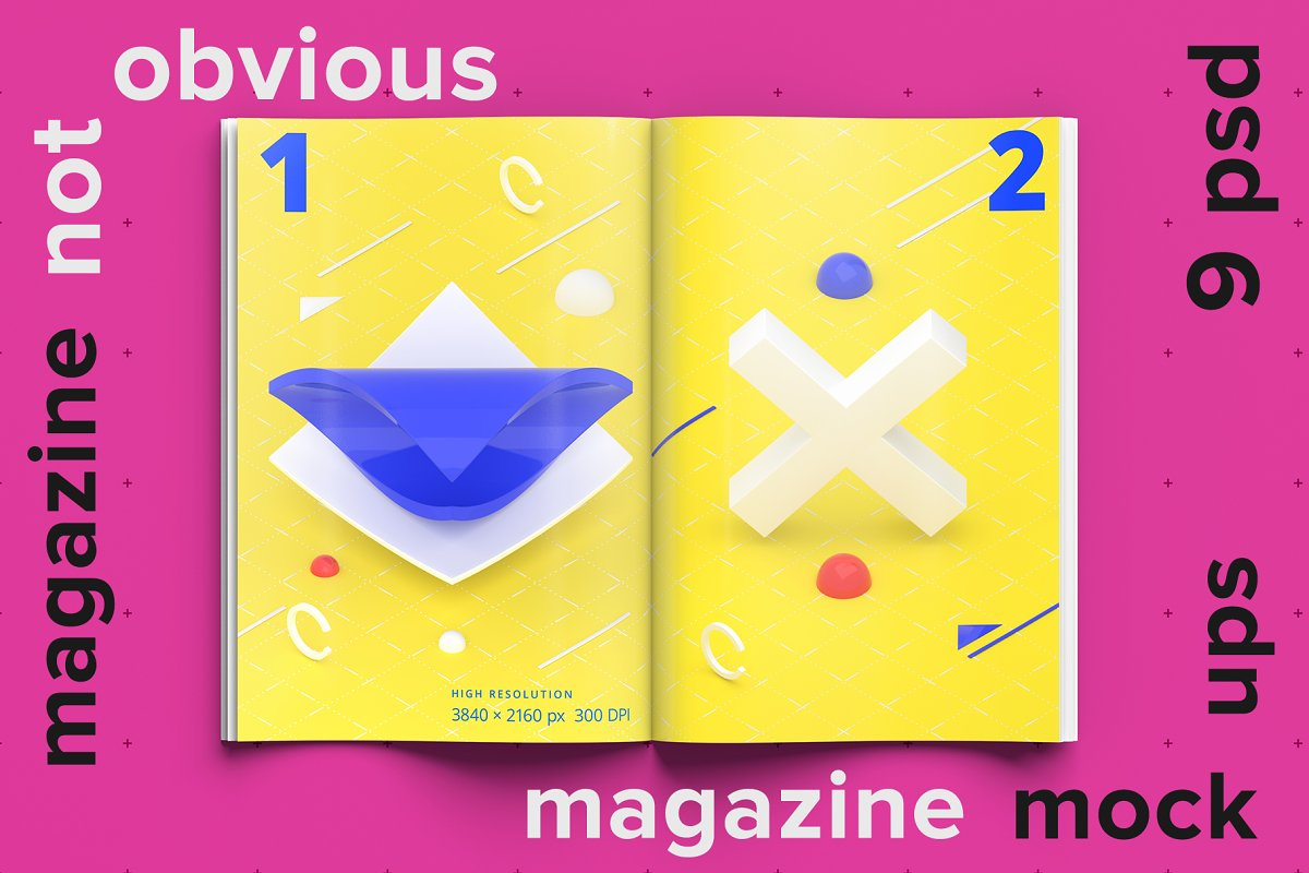 Not obvious 9 Magazine Mockups