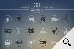 30 CINEMA icons