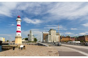 Lighthouse in Malmo, Sweden