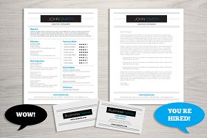 Resume Business Card Bundle
