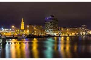 View of Kiel seaport - Germany, Schleswig-Holstein
