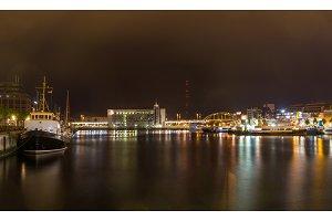 Harbour in Kiel seaport, Germany