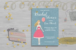 Bridal Shower Invitation Card Templa