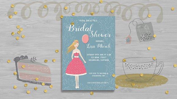 Bridal Shower Invitation Card Templa
