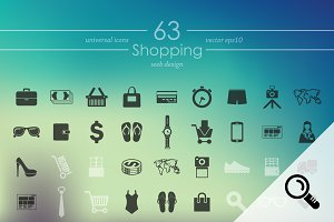 63 SHOPPING icons