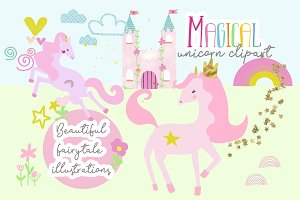 Unicorn clipart illustrations