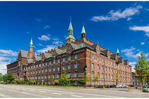 View of Copenhagen city hall, Denmark
