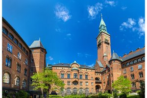 Courtyard of Copenhagen City Hall - Denmark