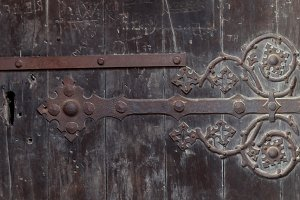 old vintage door element background