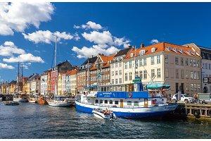 COPENHAGEN, DENMARK - MAY 29: Boats in Nyhavn on May 29, 2014 in