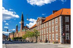 Buildings in the city center of Copenhagen, Denmark
