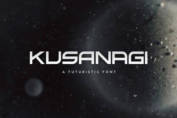 Kusanagi Futuristic Font