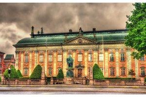 Statue of Gustav Vasa in front of House of Nobility in Stockholm