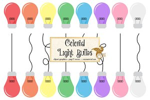 Colorful Light Bulb Vector Clipart