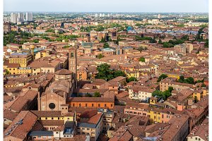 Aerial view of Bologna, Italy