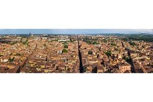 Panorama of Bologna, Italy