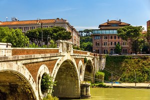 Giacomo Matteotti bridge on the Tiber River in Rome