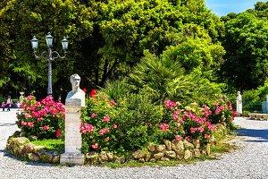 Statue of Antonio Canova on Piazzale Napoleone I in Rome