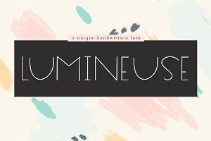 Lumineuse - A Thin Handwritten Font
