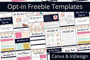 Opt-in Freebie Templates - Color Pop
