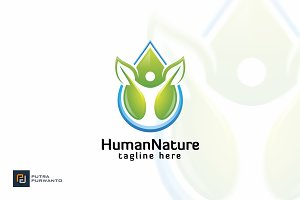 Human and Nature - Logo Template
