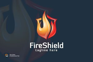 Fire Shield - Logo Template
