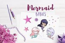 Mermaid Babies Illustrations