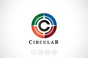 Alphabet C Circular Logo Template