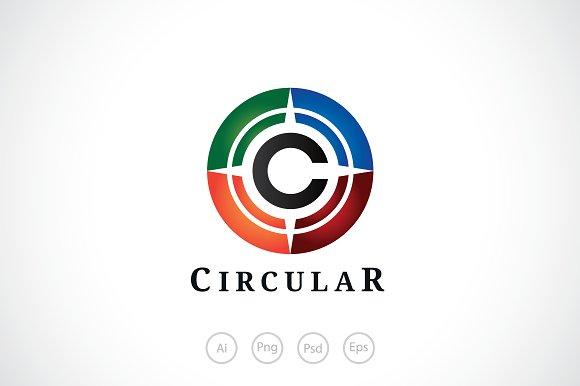 alphabet c circular logo template logo templates creative market