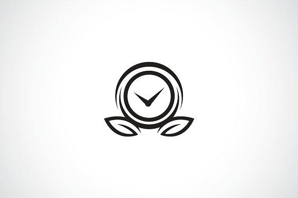 Clock Flower Logo Template ~ Logo Templates ~ Creative Market