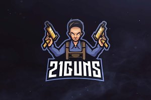 21 Gun Sport and Esports Logo