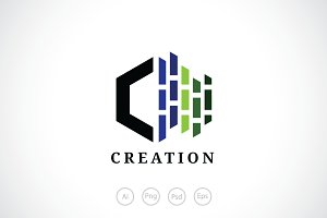 Creation C Logo Template