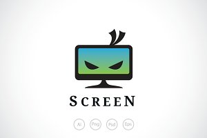 Ninja Screen Monitor Logo Template